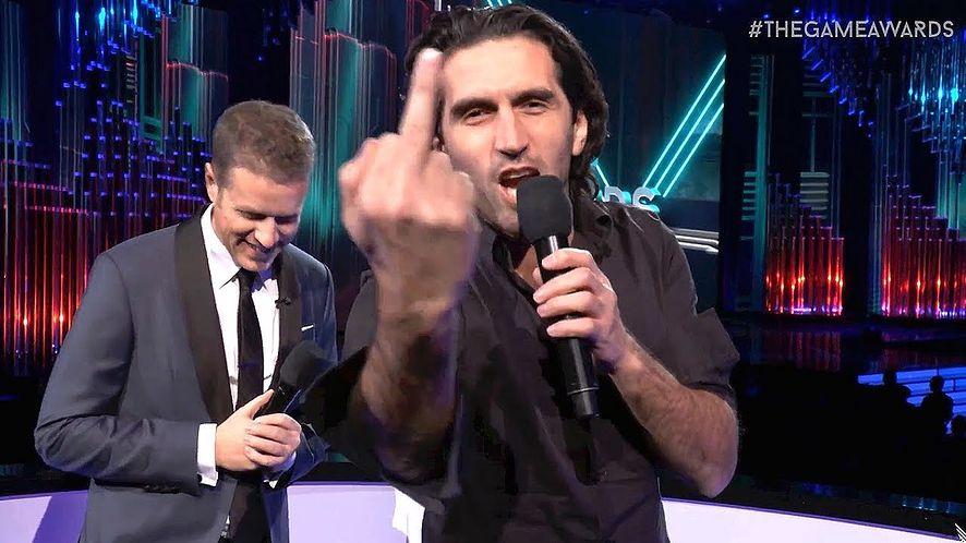 Josef Fares podczas gali The Game Awards
