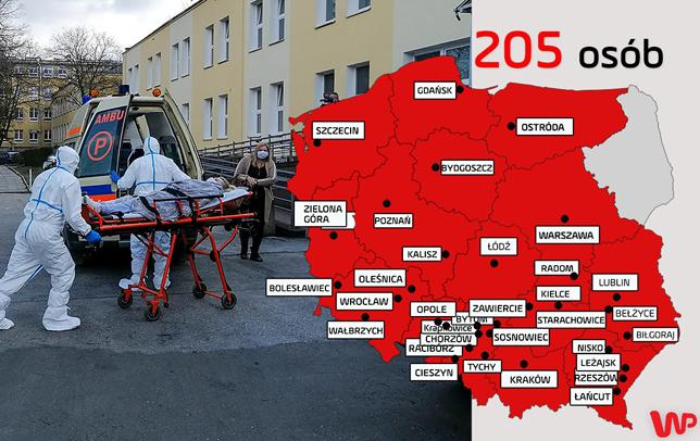 Koronawirus w Polsce. Wzrost liczby osób zakażonych i ofiar śmiertelnych