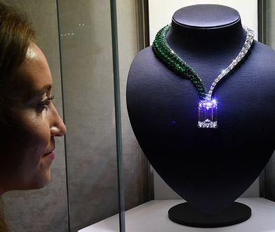 Oto naszyjnik z diamentem, który niedługo zostanie wystawiony na aukcji