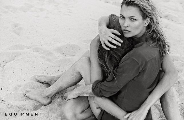 Kate Moss i Daria Werbowy w kampanii Equipment