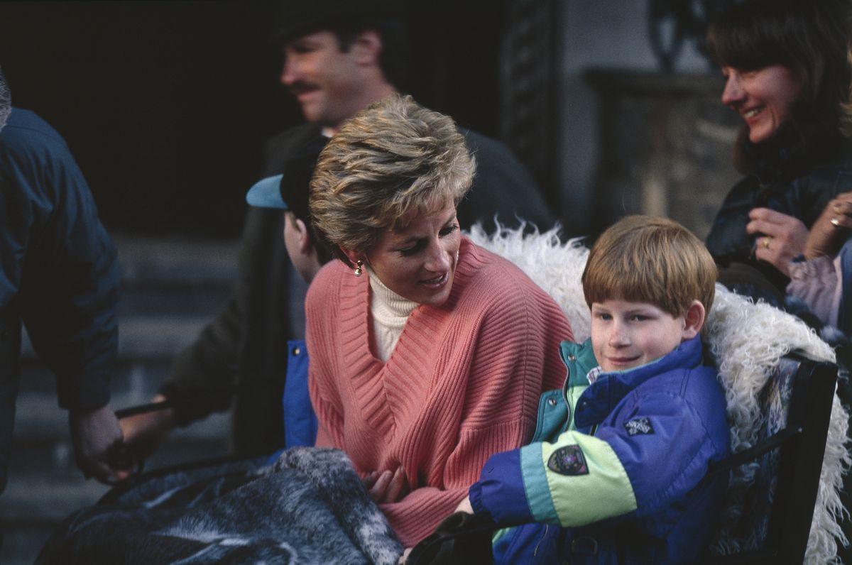Księżna Diana (1961 - 1997) i książę Harry