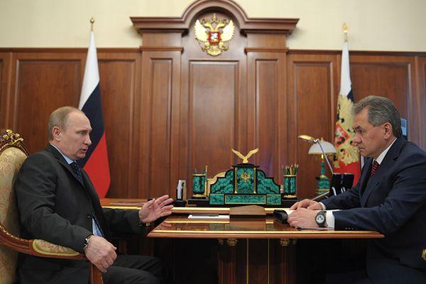 Władimir Putin i Siergiej Szojgu