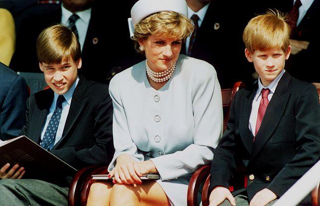 Księżna Diana oraz książę Harry i William