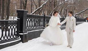 Ślub z zimową posypką