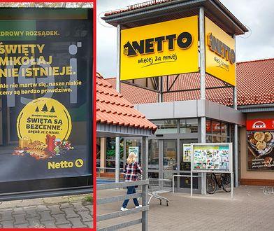 """""""Święty Mikołaj nie istnieje"""" - kontrowersyjna reklama sklepu Netto. Internauci oburzeni: """"rujnuje dzieciństwo"""""""