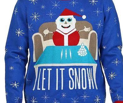 Na ubraniu Święty Mikołaj z kokainą? Kontrowersyjny sweter