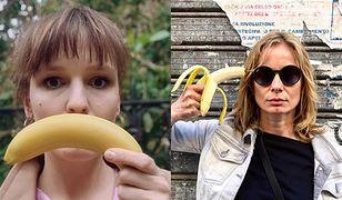 Selfie z bananem udostępniła m.in. Magdalena Cielecka