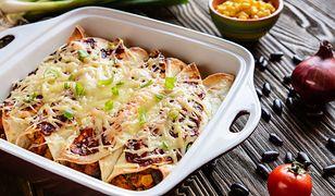 Enchiladas z mięsem i serem. Obłędnie smaczne danie z piekarnika
