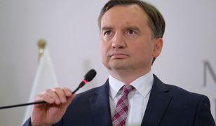 Zbigniew Ziobro na konferencji prasowej.