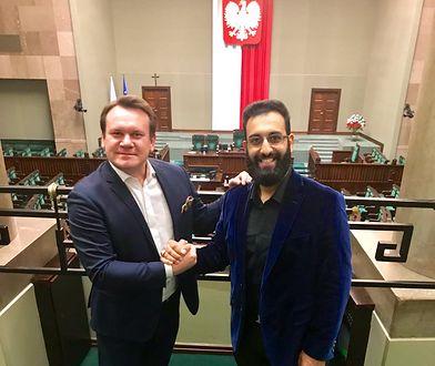 Imam Tawhidi z Dominikiem Tarczyńskim w Sejmie