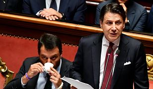 Od lewej: Matteo Salvini (wicepremier) oraz Giuseppe Conte (premier)