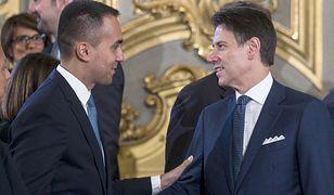 Włochy. Nowy rząd: minister spraw zagranicznych Luigi di Maio i premier Giuseppe Conte.