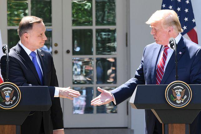 Andrzej Duda i Donald Trump w USA