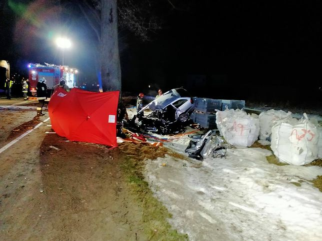 Pomorze. Tragiczny wypadek na trasie do Pucka (PSP Puck, facebook.com)