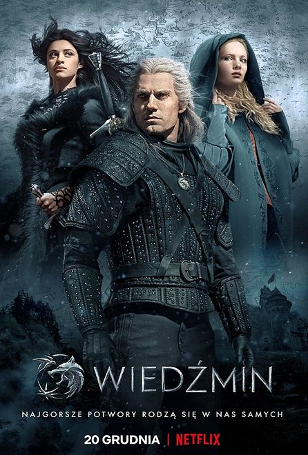 """Netflix publikuje oficjalny plakat serialu Wiedźmin. """"Mistrzostwo"""" - piszą fani"""
