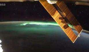 Astronauta zarejestrował oszałamiające wideo zorzy widzianej z kosmosu [WIDEO]