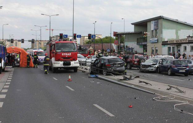 Sprawca karambolu na krakowskim Ruczaju w czwartek usłyszy zarzuty