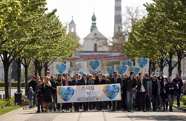 Marsz po stolicę regionu