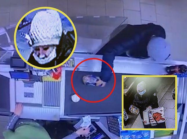 WOŚP 2021. Policja z Piły publikuje wizerunek kobiety, która ukradła puszkę (Fot.: policja.gov.pl, Kolaż WP)