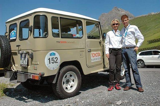 Słynna Isolde Holderied na trasie rajdu Silvretta Classic