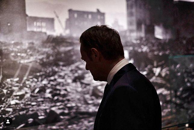 Donald Tusk odwiedził miasto zburzone w ataku atomowym