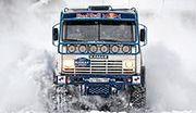 Ciężarówką po śniegu