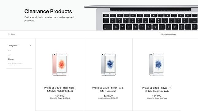 Zrzut ekranu sklepu Apple, stan na 20.02.2019, 15:40