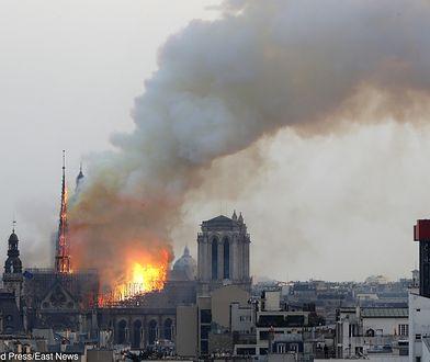 Paryż. Pożar Notre-Dame. Donald Tusk zamieścił wpis