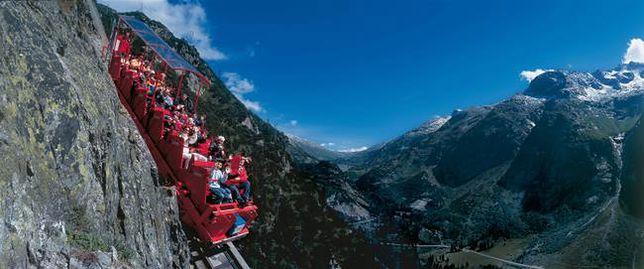 Tylko dla ludzi o mocnych nerwach - Gelmerbahn, Szwajcaria