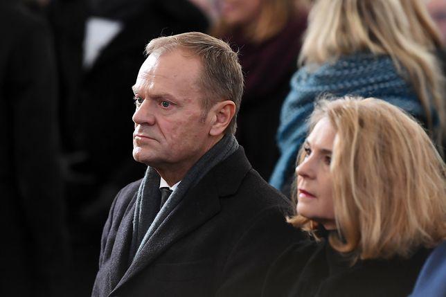 Donald Tusk z żoną Małgorzatą