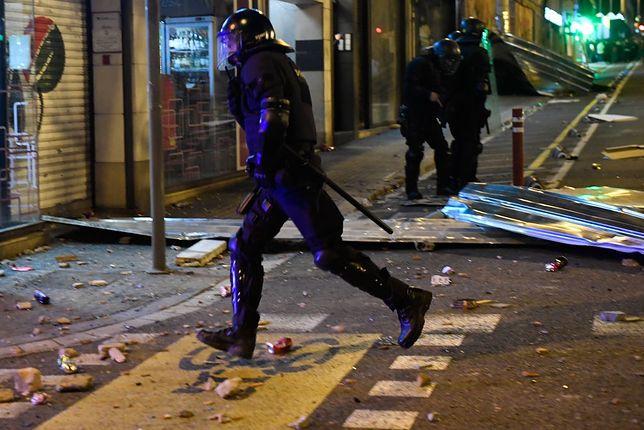 Hiszpania. Starcia z policją