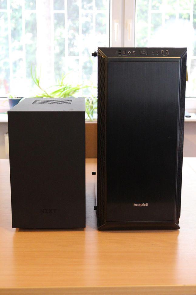 Porównanie H210 ITX z DarkBase 700 full tower ATX.