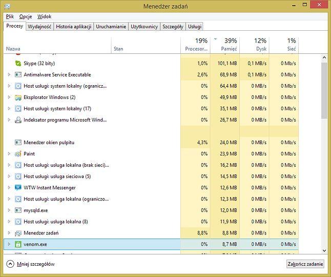 Zyżywa bardzo mało RAM-u. Lubię to!