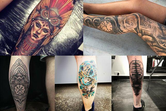 Wzory najładniejszych tatuaży na damskie i męskie łydki