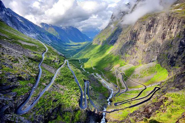 Przerażająca trasa Trollstigen, Norwegia