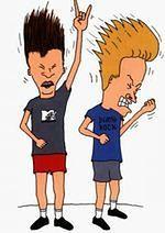 Beavis i Butt-Head oglądają YouTube w telewizji
