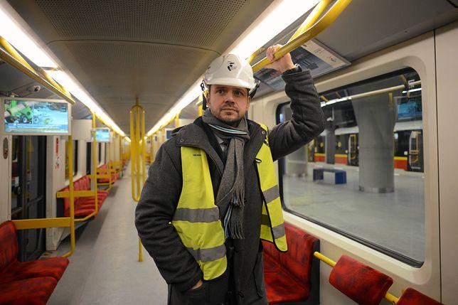 Rafał Trzaskowski na nowym odcinku II linii metra