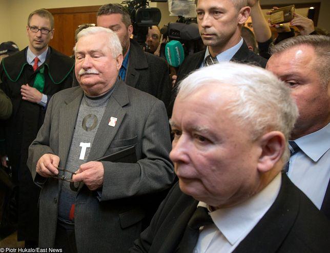Na twarzy Jarosława Kaczyńskiego pojawiła się m.in. wzgarda wobec Lecha Wałęsy