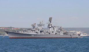 """Krążownik """"Kercz"""" w 2012 r."""