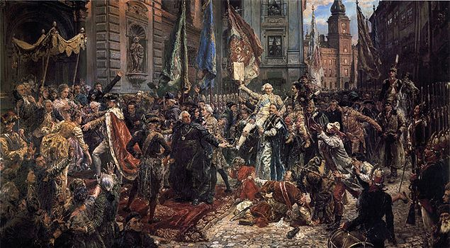 "Obraz Jana Matejki z 1891 r. ""Konstytucja 3 Maja 1791 roku"""
