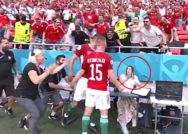 Piłkarz zdemolował stanowisko dziennikarki