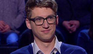 """Maksymilian Bilewicz doszedł do pytania za milion w """"Milionerach"""". I się wycofał. Niepotrzebnie!"""