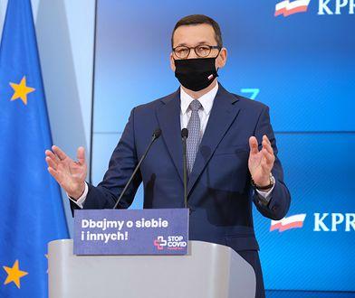 Konferencja premiera Mateusza Morawieckiego w sprawie obostrzeń