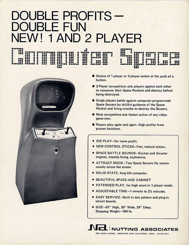 Computer Space w wersji dla dwóch graczy.