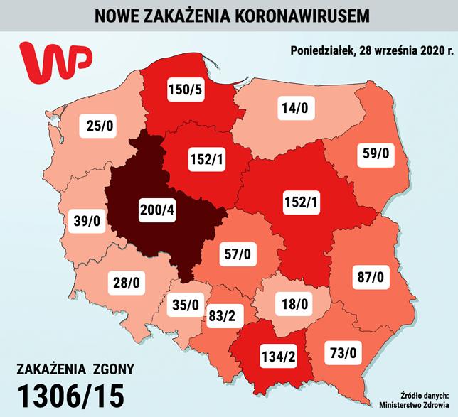 Koronawirus. Resort zdrowia podał najnowsze dane o zakażonych