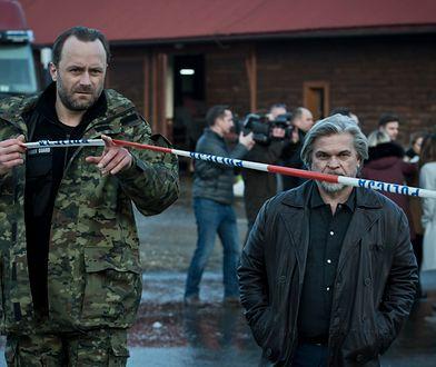 """Leszek Lichota i Jarosław Boberek na planie """"Watahy"""""""