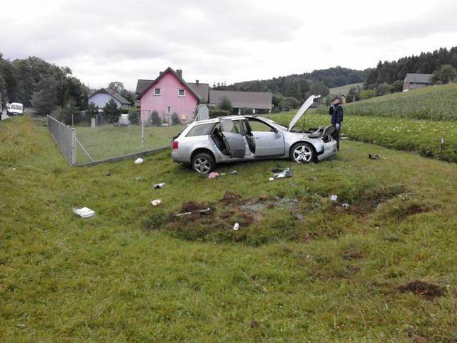 Wrak samochodu, w którym zginęła Angelika