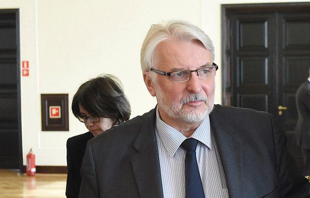 Szef MSZ Witold Waszczykowski: można było oczekiwać deklaracji Trumpa o zwrocie Krymu Ukrainie