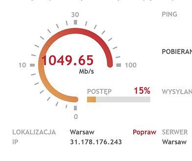 Łącze o prędkości 1 gigabita na sekundę w UPC dostępne jest dla mieszkańców Warszawy