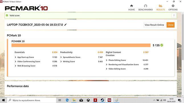 PCMark 10 i ponad 5,1 tys. pkt... w 14-calowym laptopie... magia...